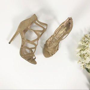 Lola Shoetique Caged Ankle Bootie Sandals Tan